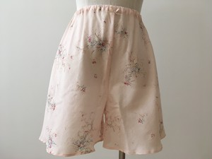 【IKUKO】 タップパンツ シングルガーゼ コットン100 Pink/Ivory