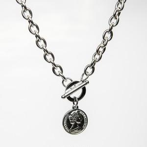 Coin pendant necklace 【SILVER】