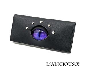 cat eye wallet / light purple × blue