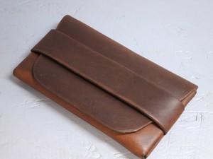 内縫いカードケース チョコレート