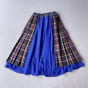 【SHINPIN×jane's vintage】Plaid and blue skirt