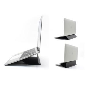 テレワークに最適 軽量一体化 ノートパソコン用スタンド 二段階 ダークグレー