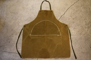 USED 60s Unknown Vintage Canvas apron G0585