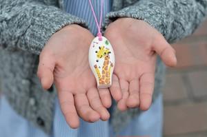 ミニセラリーナ6音 動物柄(きりん)子供の指先能力向上やプレゼントに♪