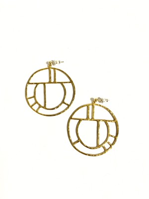 EG001G 【G-1 gold earrings】