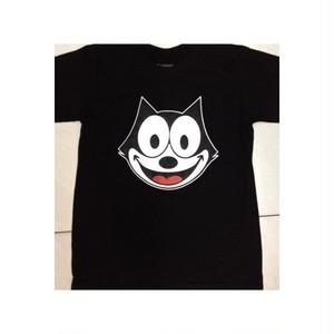 フィリックス・ザ・キャット Felix the Cat フェイス/顔 プリント Tシャツ