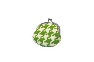 帆布×インクジェットプリント・3.3寸小銭入れ・千鳥格子・日本製