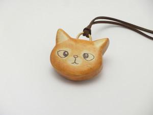 桂の猫ペンダント P1221