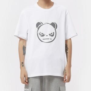 【HIPANDA】メンズ Tシャツ MEN'S HIPANDA  LOGO SHORT SLEEVED T-SHIRT / WHITE