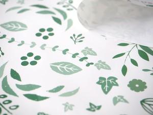 石の素材ハクアを使った包装紙[グリーンパターン] B2サイズ 10枚
