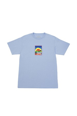 QUARTER SNACKS TRACK CLUB POSTCARD TEE POWDER BLUE