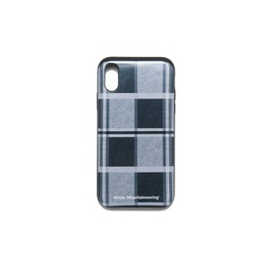 iPhoneX case【LARGE CHECK】- GRAY