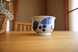 砥部焼/小丼/ブルー木の葉/森陶房