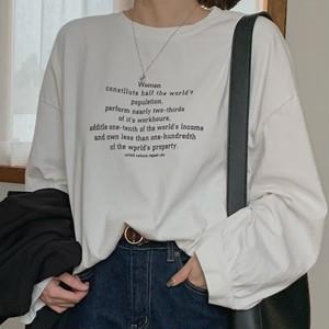 【トップス】アルファベット多色展開キャンパスシンプルカジュアルTシャツ