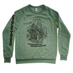 "Cycle Trash Sweat Shirt ""milkcrate"", green"