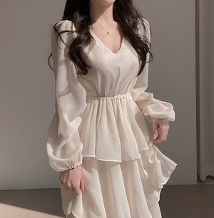 french frill dress 2color