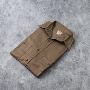 40's【Dead Stock】Vintage Herringbone Work shirts 40年代 デッドストック ヴィンテージ ワークシャツ ヘリンボーン シーボードフライヤー 古着 A652