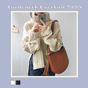 【お取り寄せ商品】タートルネックオーバーニット 7355