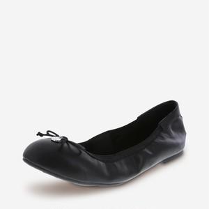 26.5cm 形状記憶低反発 フラットシューズ ぺたんこパンプス バレエシューズ モデルサイズのレディース靴