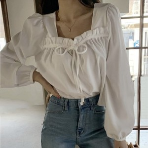 front tuck blouse[2103-35]
