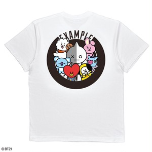 【限定受注販売】 EXAMPLE l BT21 ROUND LOGO TEE /WHITE