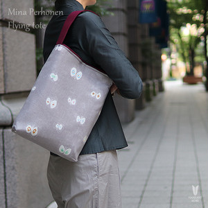 ミナペルホネン(mina perhonen bordeaux)×倉敷帆布【Flying tote 】