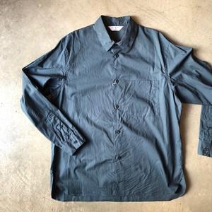 STILL BY HAND レギュラーカラーシャツ (ティール)