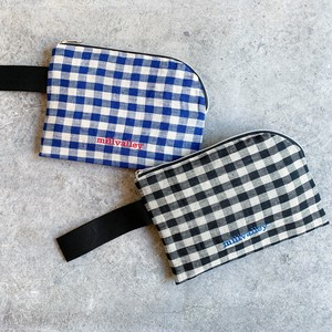 gingham pouch - S