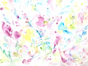 ◯ Rainbow Garden   { 水彩画 ART }