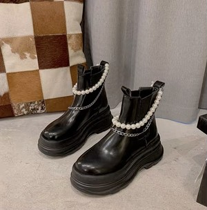 platform pearl shoes 2color