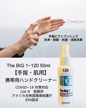 ノンアルコール除菌洗浄剤 [手指・肌用] ビッグワン 120 洗浄・除菌スプレー 50ml ✕ 5本セット 感染症対策対応