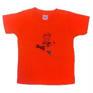 110cm キッズTシャツ オレンジ