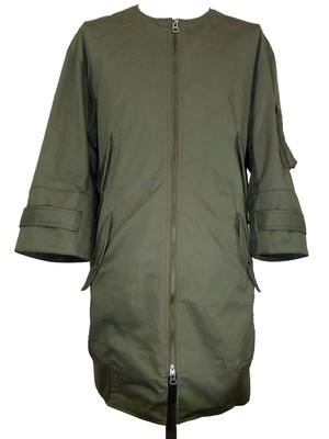 NO COLLAR FOUR FRAP HALF BLOUSON -KHAKI-