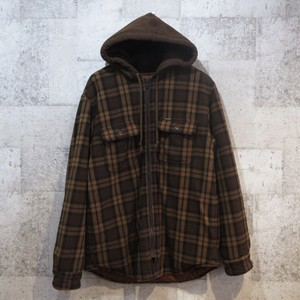 SUPREME 18AW Hooded Plaid Work Shirt