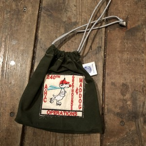 "Vietnam War Patch ""Kinchaku"" Pouch, Mad Dog"