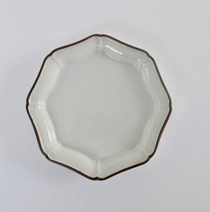 [KR21201] 九谷の白 八角変形大皿