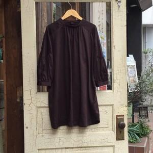 Select Item / Back Cross Shirt #3 charcoal /  バッククロス シャツ
