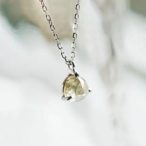 Pt900 ほんのりGreenish Yellow ダイヤモンド 0.57ct ネックレス【1点物】