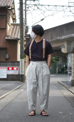 Men's / ysora's WIDE PANTS of Bishu's fabric