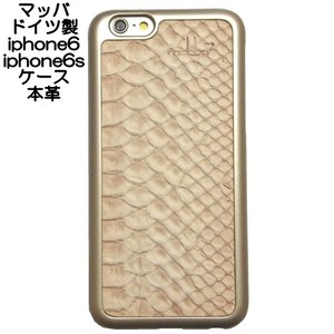 mabba マッバ 本革 iphone6sケース iphone6ケース レザー ゴールド snake gold アイフォン6ケース おしゃれ