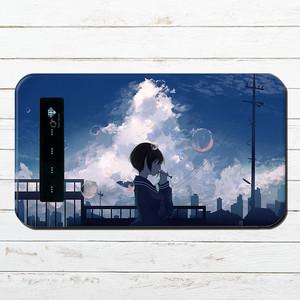 #048-009 モバイルバッテリー おすすめ iPhone Android かわいい おしゃれ 女の子 イラスト スマホ 充電器 タイトル:空に飛ばして 作:みふる