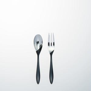 KOKU 木曽漆器のカトラリー:凛(りん)2本セット 黒