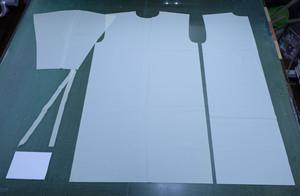 【裁断済み素材セット】洗えるアイソレーションガウン(ホワイト)