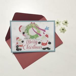 Merry Christmas Post card set with an envelope:ポストカードと封筒
