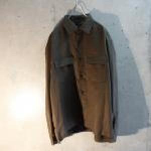 Long sleeve suede shirt jacket
