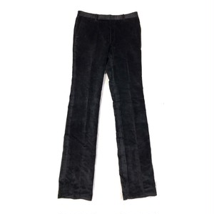 JOHNLAWRENCE SULLIVAN VELOUR STRIGHT TROUSERS BLACK
