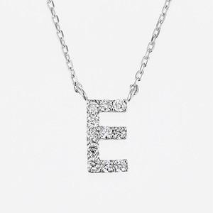Initial K18WG Diamond【E】Pendant Necklace (ダイヤモンド イニシャル【E】ペンダントネックレス)