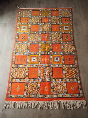 【高品質直輸入品】モロッコラグ/絨毯(グラウィ)204×114