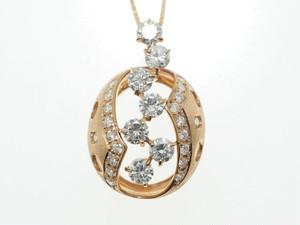 【K18PG】1.020ct UP ダイヤモンドネックレス