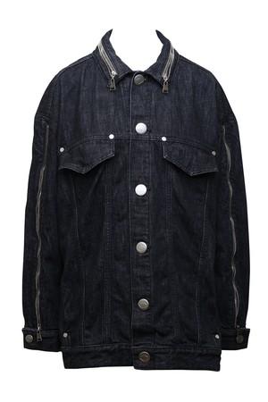 Button Jean Jacket (Black)